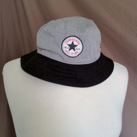 f78051b0 Converse Accessories | Euc Chuck Taylor All Star Gray Bucket Hat ...